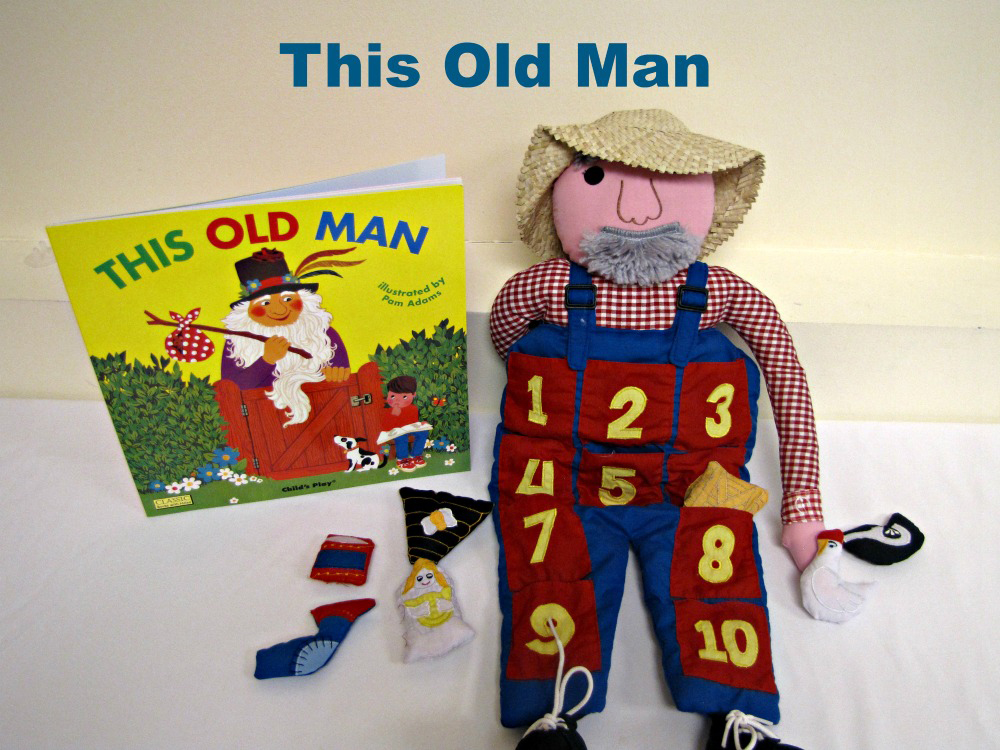 """This Old Man"" book with and old man doll prop"